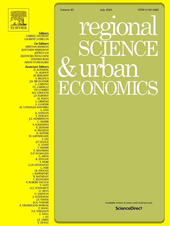 Regional Science & Urban Economics